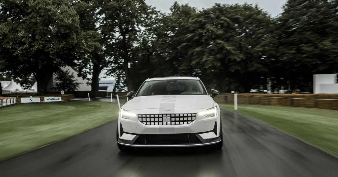 Polestar made a more powerful version of its electric sedan for the Goodwood Festival